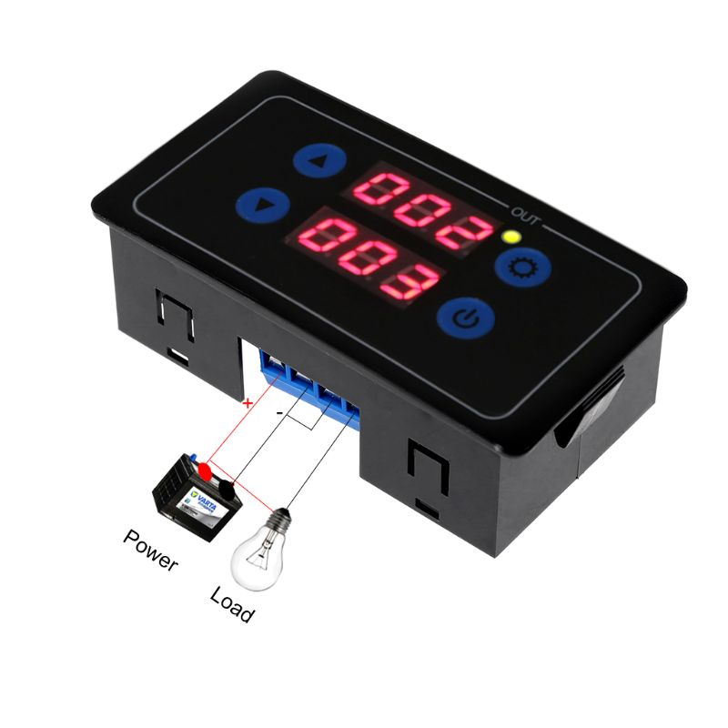 0 1s 999h Countdown Timer Programmable Cycle Control Module Time Dalay Relay 5V 12V 220V Optional Voltage in Relays from Home Improvement
