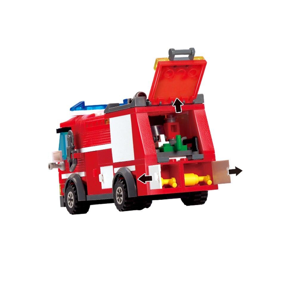 206st FireTruck Building Blocks Kompatibel Legoed City Brandmän - Byggklossar och byggleksaker - Foto 3