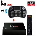 KII Pro DVB-T2 + S2 + Android smart TV Caja 2 GB + 16 GB Amlogic S905 Quad-core 2.4G y 5G Wifi BT4.0 inteligente Media Player set top box KIIPRO