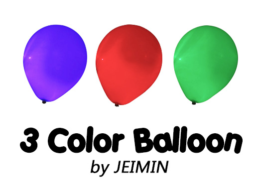 3 Color Balloon By JEIMIN Remote Control - Magic Trick,Accessories,mentalism, Stage Close Up Magic Props,mind,comedy,gimmick