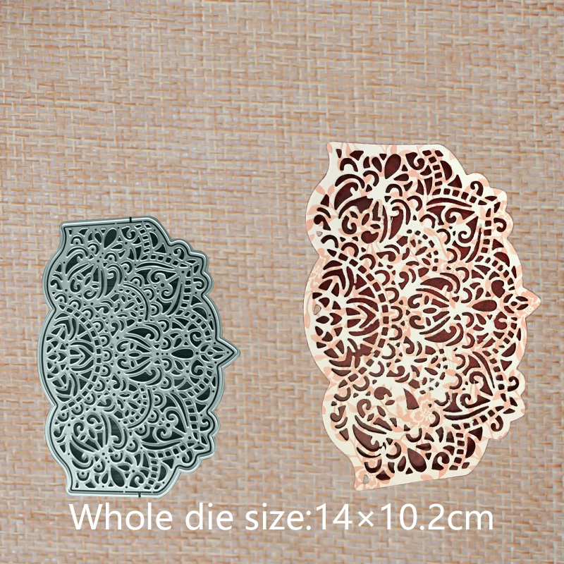 Hollow Lace corolla frame Metal Cutting Dies for DIY Scrapbooking photo album Embossing 140*102 mm