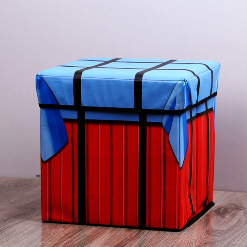 Storage Box Chair Pubg Game Playerunknowns Battlegrounds Air Drop Plush Plush Pillow Gifts Cosplay Cube Folding Storage Chair Storage Boxes & Bins     - title=
