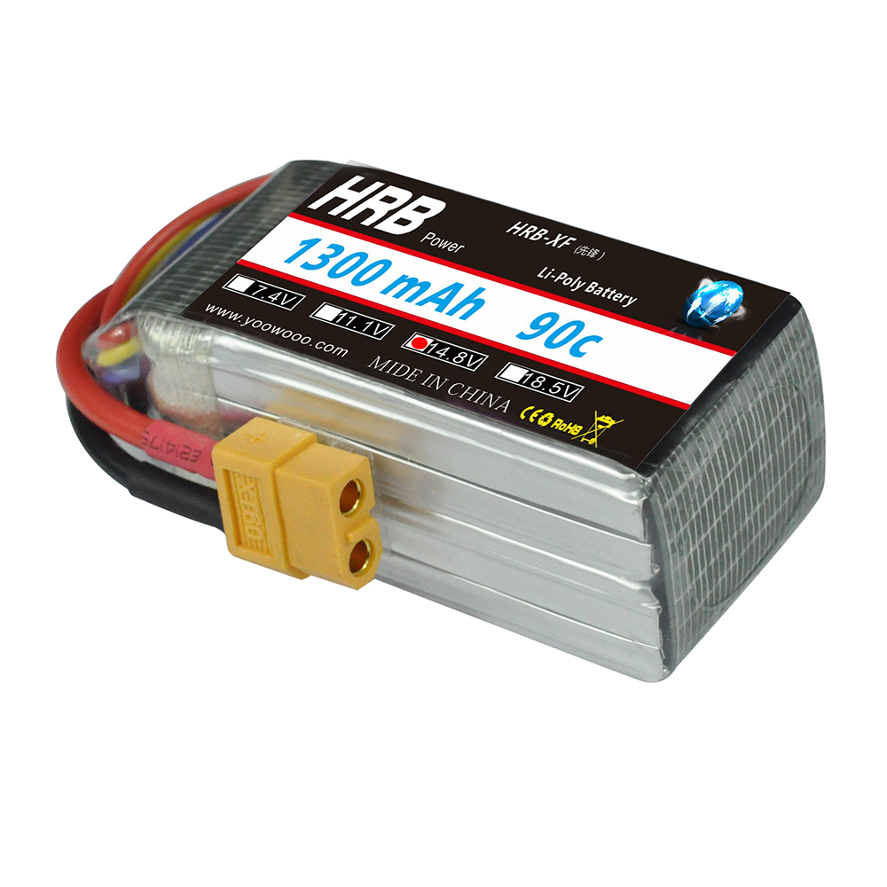 HRB RC Lipo 4S Battery 14.8V 1300mAh 90C-180C Drone AKKU RC Bateria For Helicopters RC KT Plate Airplane Car Quadcopter Boat UAV hrb rc lipo battery 14 8v 2600mah 35c 70c for rc helicopters quadcopter car fpv racing league