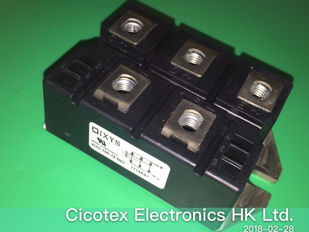 VUO190-16NO7 MODULE IGBT RECT BRIDGE 3PH 1600V PWS-E-1 VUO190-16N07 Modules vuo160 16no7