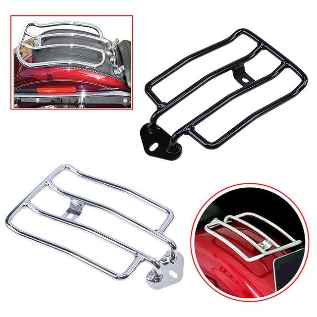 Black Chrome Motorcycle Luge Carrier Racks Rear Fender Rack Motocross Support Shelfs For Harley Sportster Xl883 1200