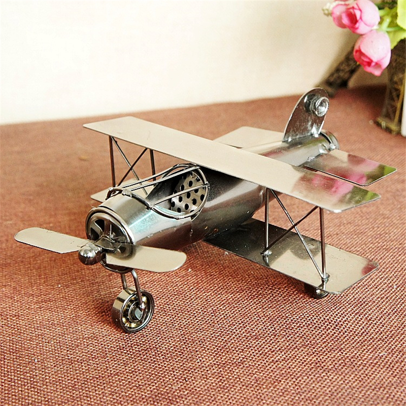 3 Type Vintage Aircraft Metal Plane Model New Year Kids Gifts Home Decoration Crafts Collection Wheels Can Be Moved
