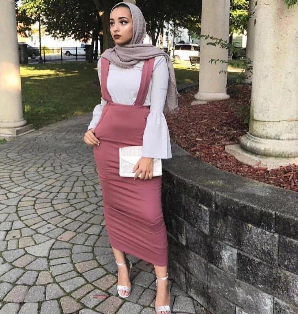 Mode femmes ceinture jupe salopette robe fonds musulmans jupes longues jupe crayon Ramadan parti culte Service vêtements islamiques