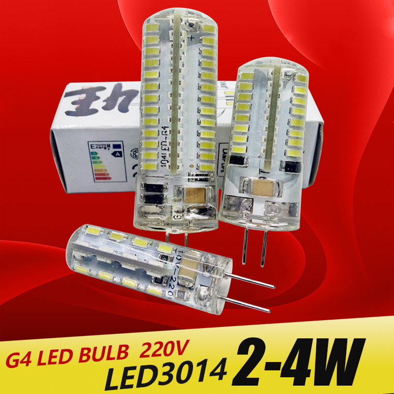 G4 LED Bulb Lamp 3014 LED Bulb 2W 3W 5W AC220V G4 SMD Light 360 Beam Angle Chandelier Lights Replace Halogen Lamps