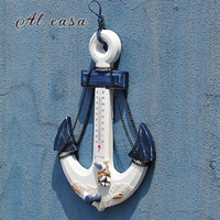 Coat Hanger Wall Hanging 1 Hook Mediterranean Style Boat Anchor Home Decorations Clothes Rack