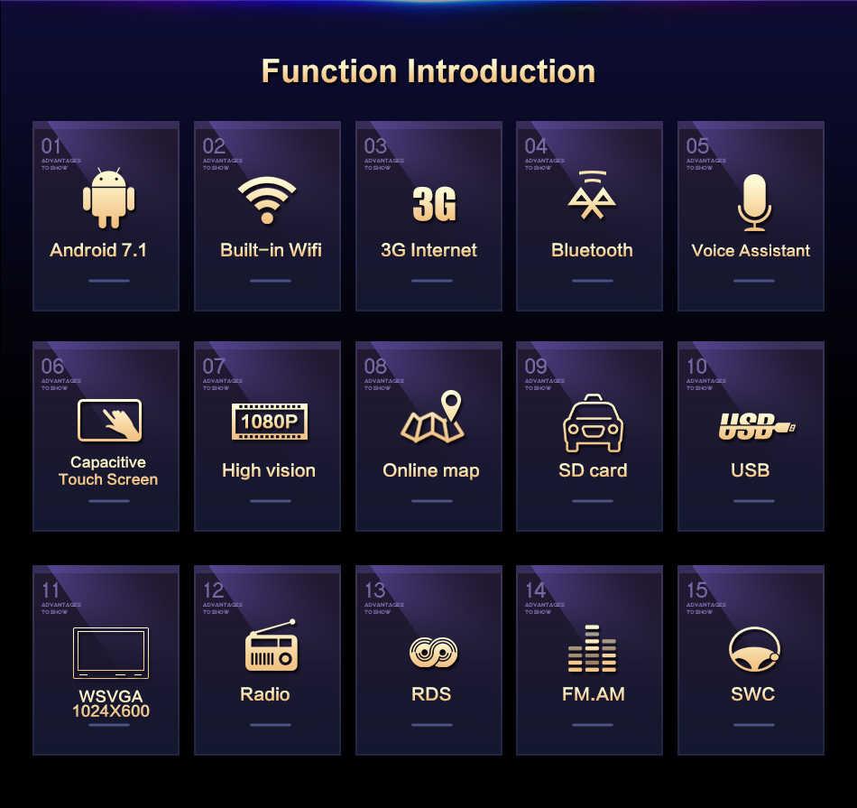 1024*600 Android 7,1 9 дюймов 2din автомобильный Радио плеер для гольфа 6 Новый polo новый Bora B6 PASSAT SKODA gps Карта BT wifi gps навигация