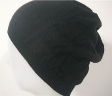 women men's good Not out of pure black and classic minimalist sleek spring knit hat full 68 free shipping