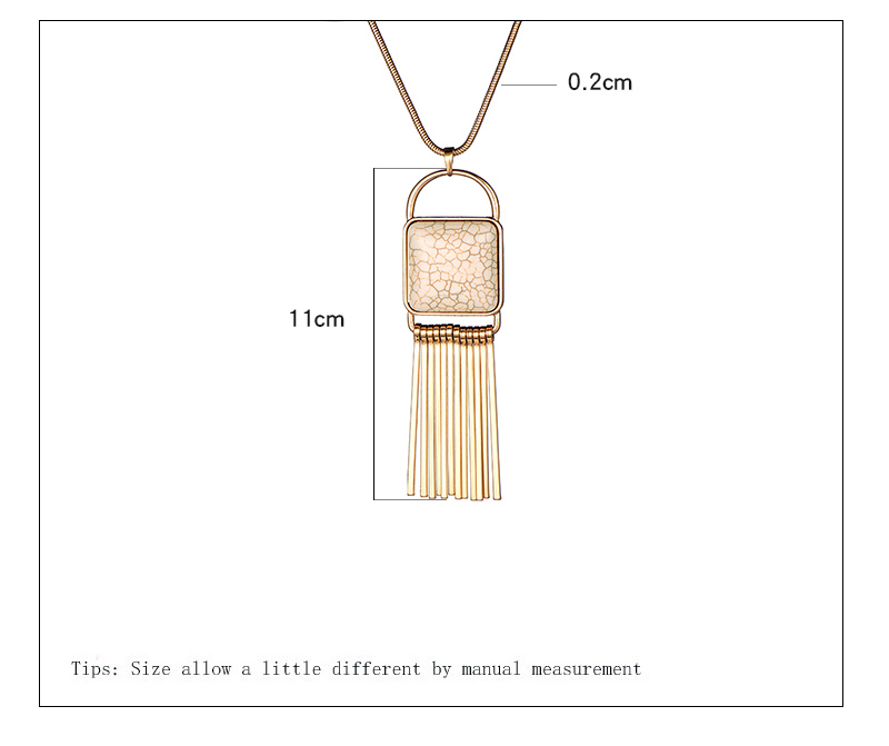2018 New Fashion Nature Stone Pendant Long Chain Necklace Gold Silver Color Bar Tassel Necklace For Women Jewelry dropshipping 3