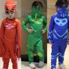 Pj Mask Cosplay Costume Catboy Owlette Gekko Cape With Masks Wristband Cape Carnaval Costumes For Kids