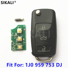 Zdalny klucz samochodowy dla 1J0959753DJ 5FA009259-55 Bora Golf Passat Sharan dla VW VolksWagen 1998 1999 2000 2001 2002 2003 2004 tanie tanio HELLA 315MHz 1J0 959 753 DJ CHINA 5FA 009 259-55 SIKALI SKL KEVW02 Keyless Entry Transmitter ID48 blank HU66 HAA