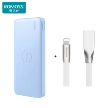 Romoss polymos10 воздуха 10000 мАч автомобильное зарядное устройство внешний двойной выход зарядное power bank для iphone/xiaomi идеальный валентина подарок