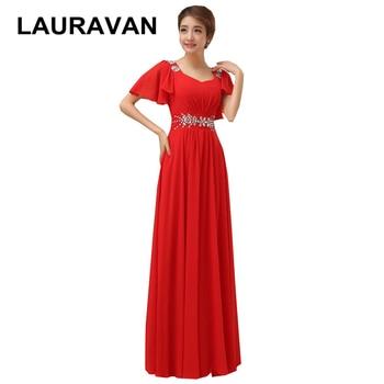 elegant robe de soiree red hot pink light blue black cap evening dresses v neck dresses vestidos summer dress 2020 new arrival