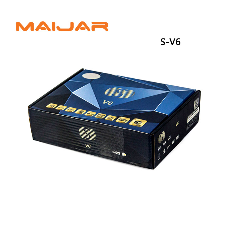 S-V6 Mini Digital Satellite Receiver S V6 with AV HDMI output 2xUSB WEB TV USB Wifi Biss Key Youporn CCCAMD same as openbox v6s