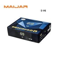 S V6 Mini Digital Satellite Receiver S V6 with AV HDMI output 2xUSB WEB TV USB Wifi Biss Key Youporn CCCAMD same as openbox v6s