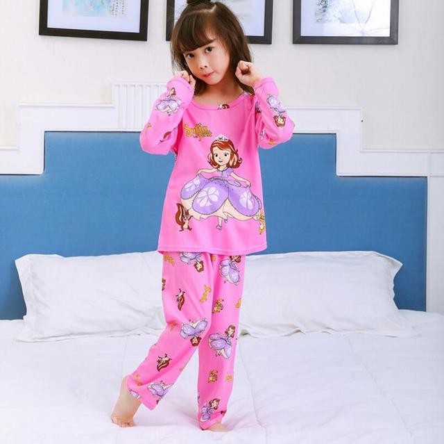Hot Children Pajamas Set 2pcs Long Sleeve Sleepwear Sets Growing Girls  Pyjamas Kids Cotton Long Johns suit Big Girls underwear 882806a24