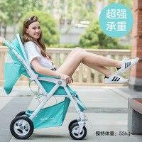 YIBAOLAI 898B Алюминий сплав рамка 4 колеса резиновые детские коляски может сесть или лечь портативный складной портативный новорожденных Коляск