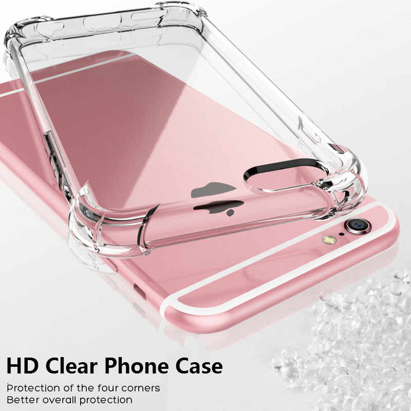 360° airbag protection phone case for iphone7 7plus soft TPU covers for iphone5 5s 6 6s 6plus 8plus HD tpu capa X XS XR XSMAX