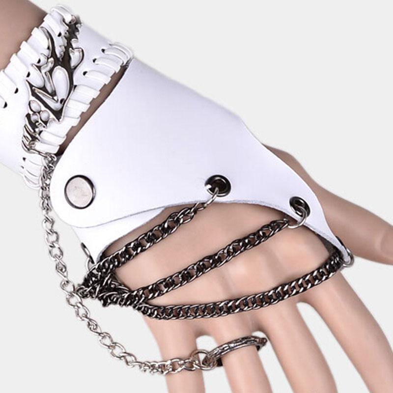 2018 new design fashion cool man glove and bracelet sets /women ,girl punk gloves set