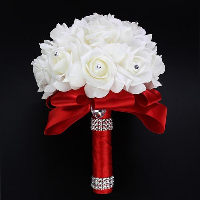 Luxury Wedding Decoration Bouquet Handmade Silk Ribbon Flowers ...