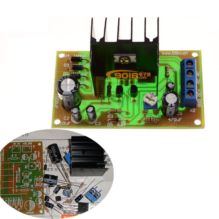 Electronic Circuit Board With Components Focused To Middle Part