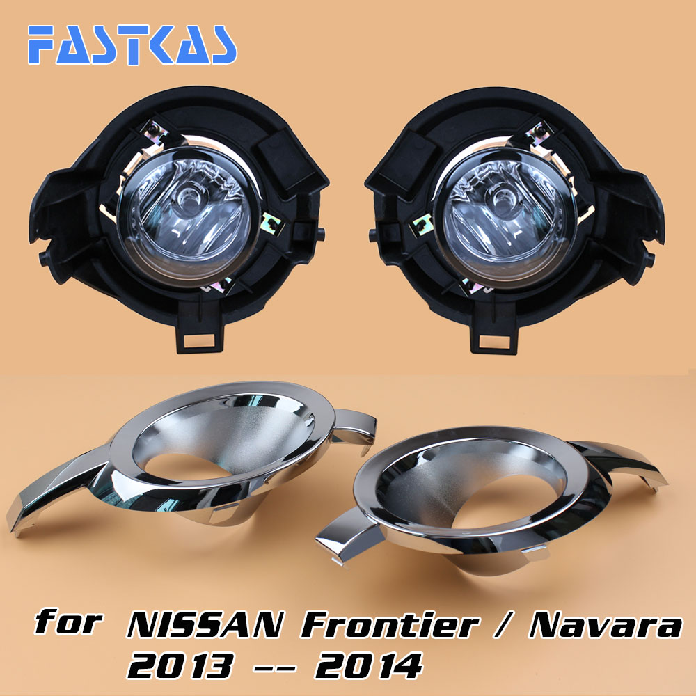 12v Car Fog Light Assembly for Frontier / Navara 2013 2014 Front Left and Right set Fog Light Lamp with Harness Relay Fog Light 12v 55w car fog light assembly for ford focus hatchback 2009 2010 2011 front fog light lamp with harness relay fog light
