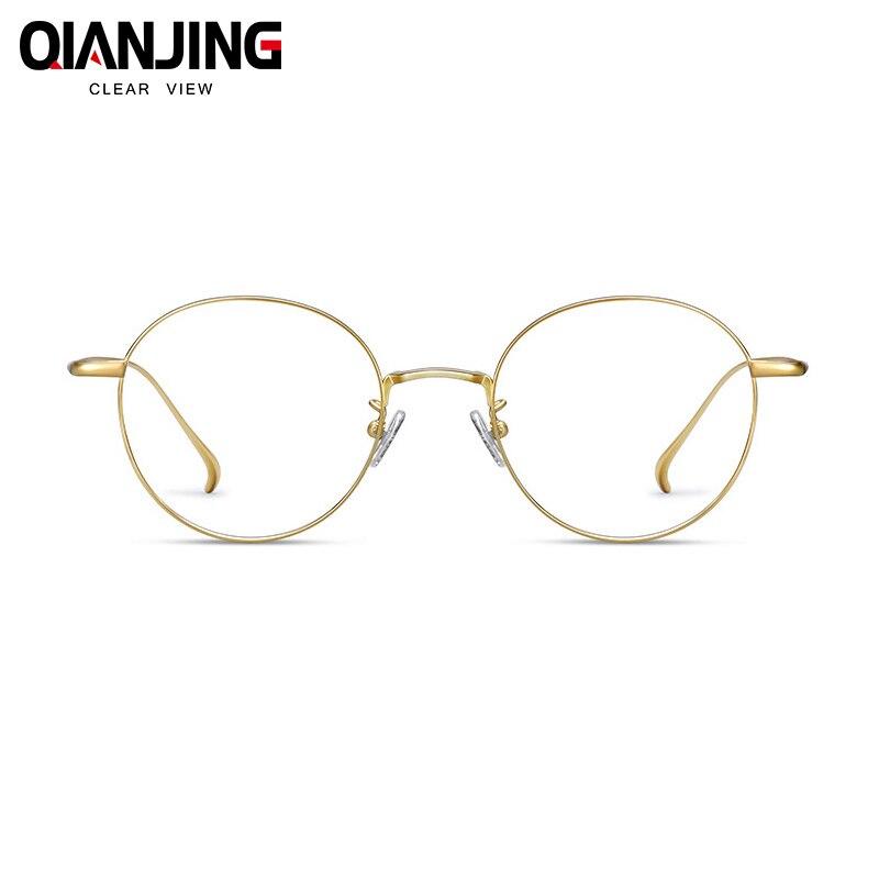 Высокое качество титановый чистый ip-покрытие материал мужские и женские очки Рамка круглый полный обод ручной работы индивидуальные очки Р...
