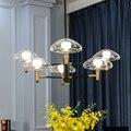 Современный художественный подвесной стеклянный светодиодный подвесной светильник Скандинавская подвеска Медуза для гостиной спальни ст...