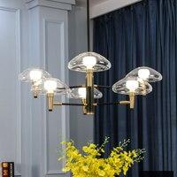 Modern art hanging glass LED pendant lamp Nordic jellyfish Pendant light for living room bedroom dining room hotel