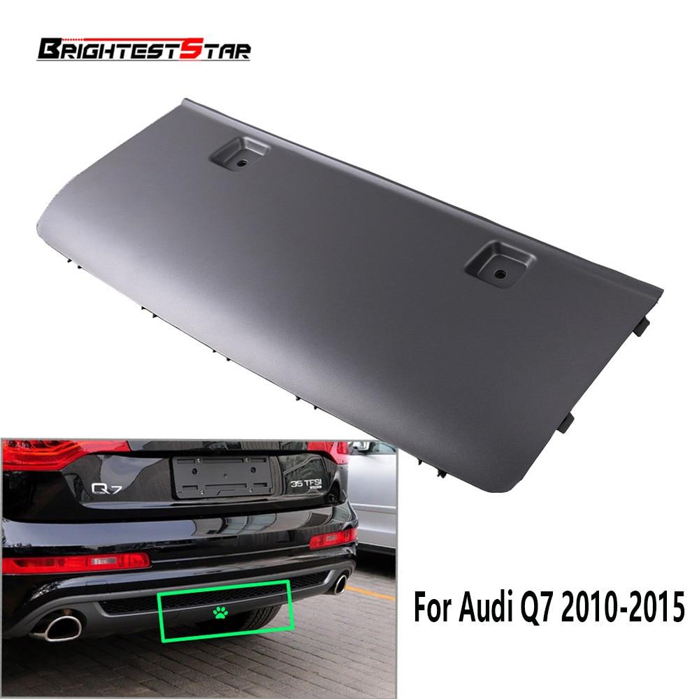цена на Grey Rear Bumper Tow bar Cover Ca'p Flap Trailer Hitch Mount For Audi Q7 2010 2011 2012 2013 2014 2015 4L0 807 819 M 4L0807819