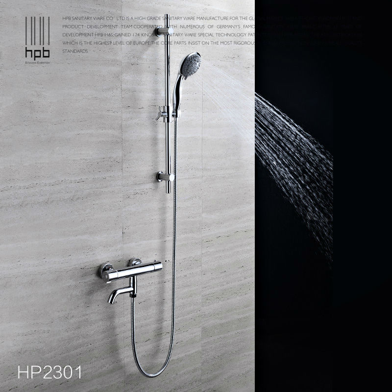 HPB Thermostatic Bathroom Bathtub Faucet Cold Hot Water Mixer Bath ...