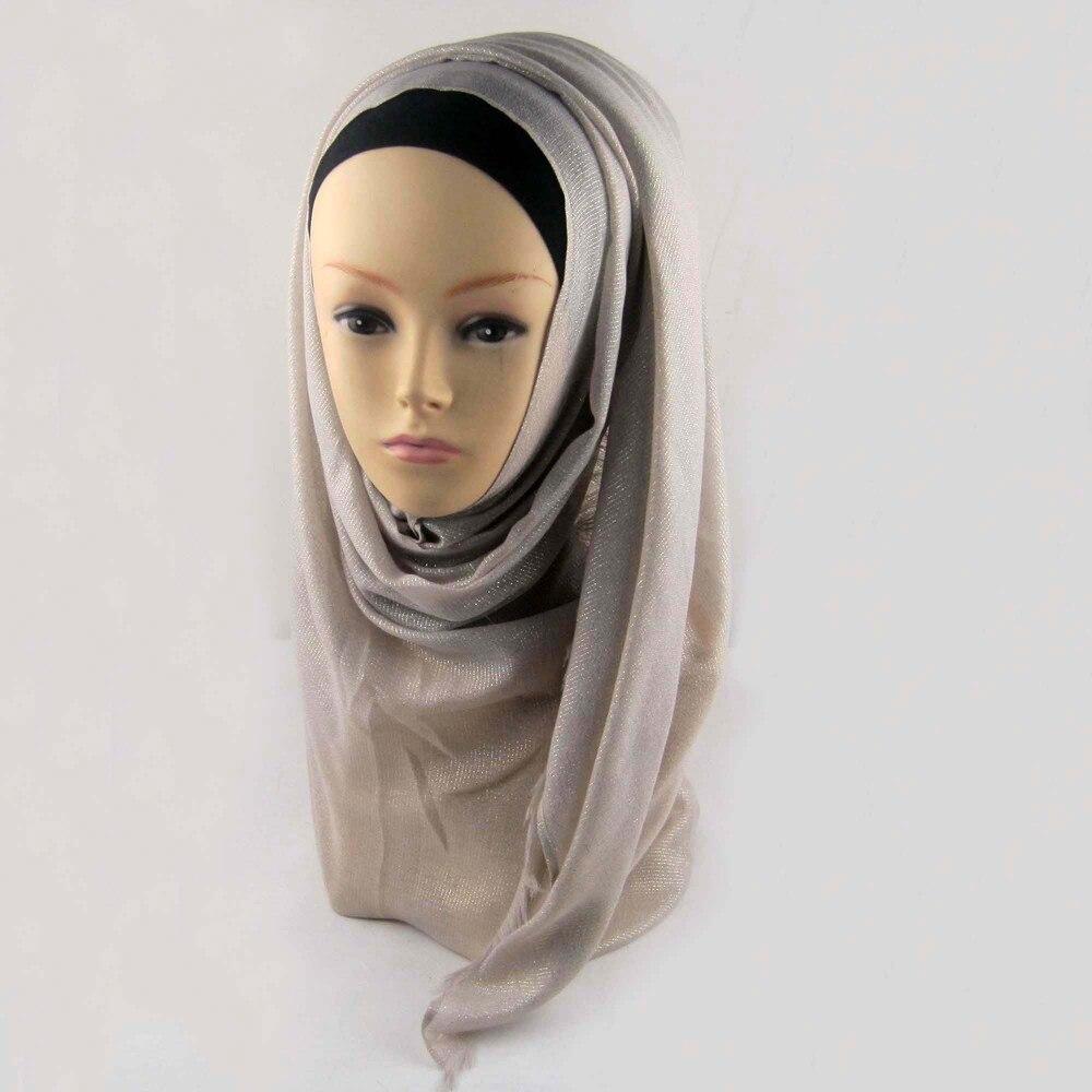 Мусульманский хиджаб мерцание шарф хиджабы блестящий шарфы мерцающий шаль, можете выбрать цвет - Цвет: color12