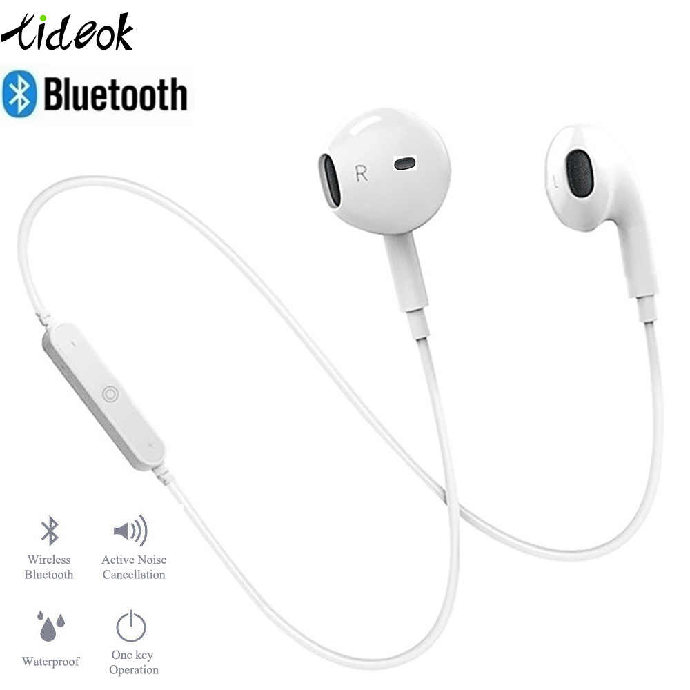 سماعة لاسلكية تعمل بالبلوتوث سماعات إلغاء الضوضاء سماعة الرقبة الحياة الرياضة ستيريو في الأذن مع ميكروفون لجهاز الآيفون Xs سامسونج 9