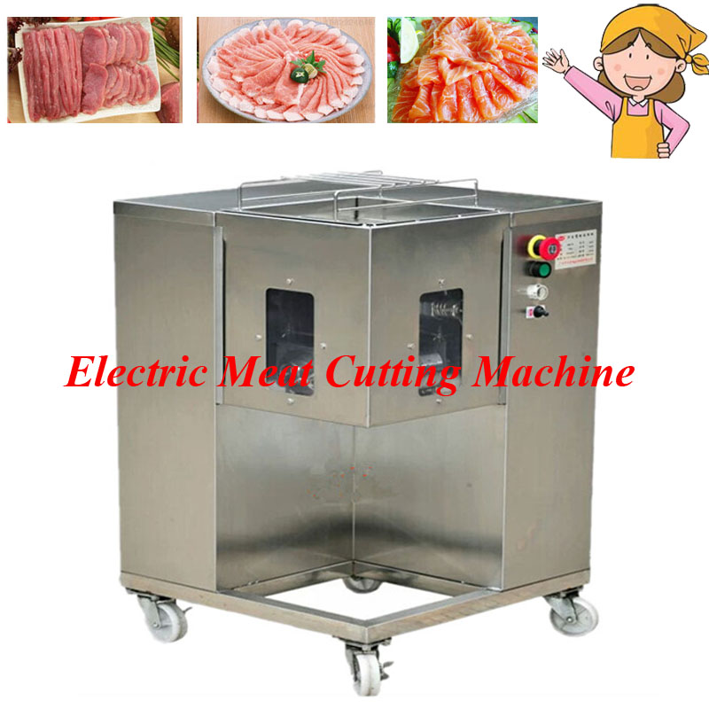 Popular Multifunction Movable Meat Processor with 4 Wheels Steel Meat Chopping Machine for Grinding Shredding Slicing QSJ-A wavelets processor