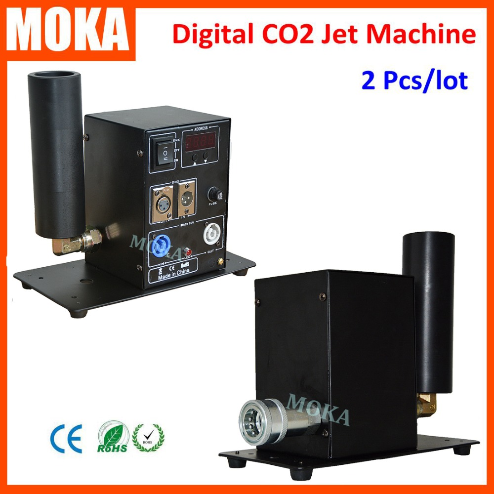 2 PCS/lot Digital CO2 Jet Machine CO2 Equipment Stage Effect Smoke Machine DMX 512 Switchable CO2 Jet Blaster CO2 machine 1 pcs12 3w led co2 jet machine dmx co2 jet led rgb led dmx 512 co2 column jet cryo fogger stage effect blast dj machine