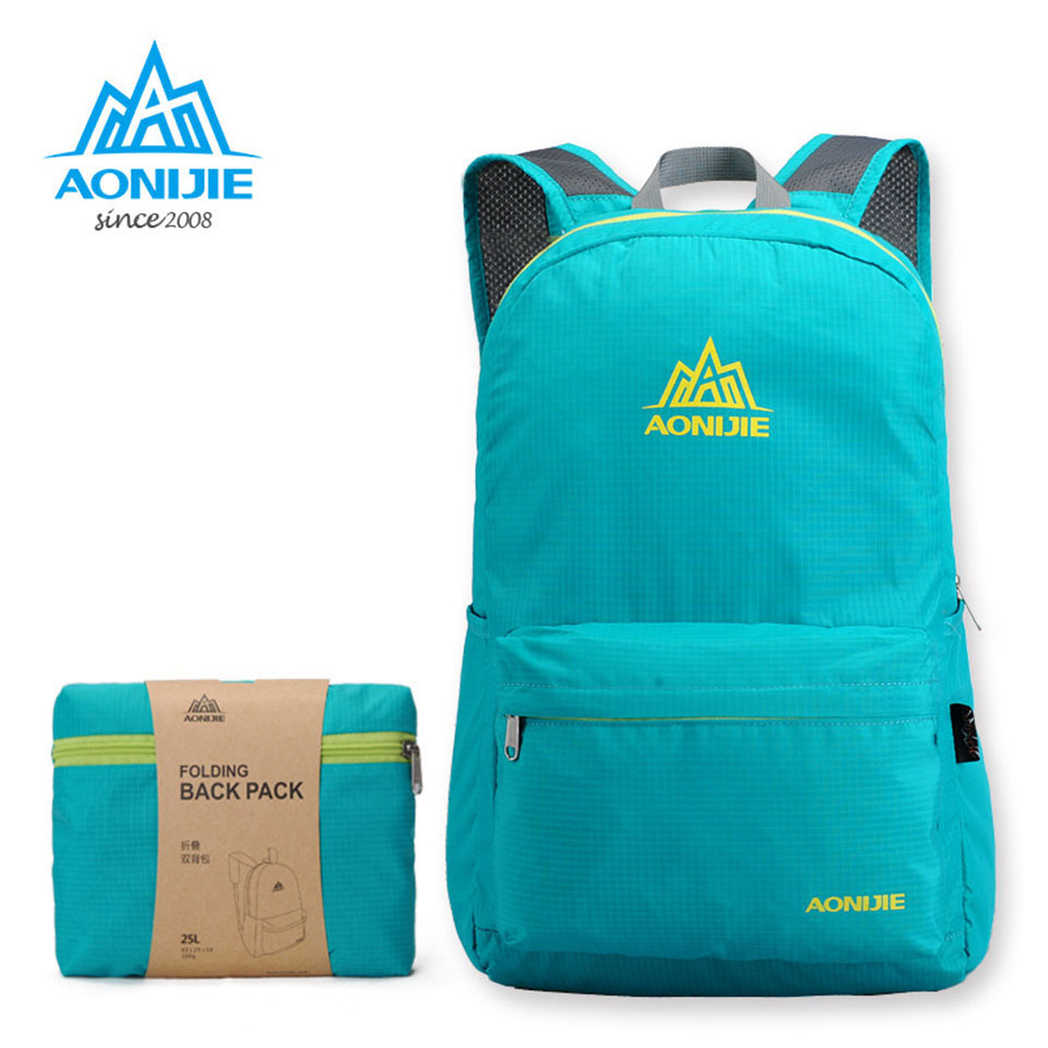 AONIJIE Outdoor Sport Camping Hiking Pack Pack Light Backpack Backpack New Nylon Waterproof Portable School Travel Bags