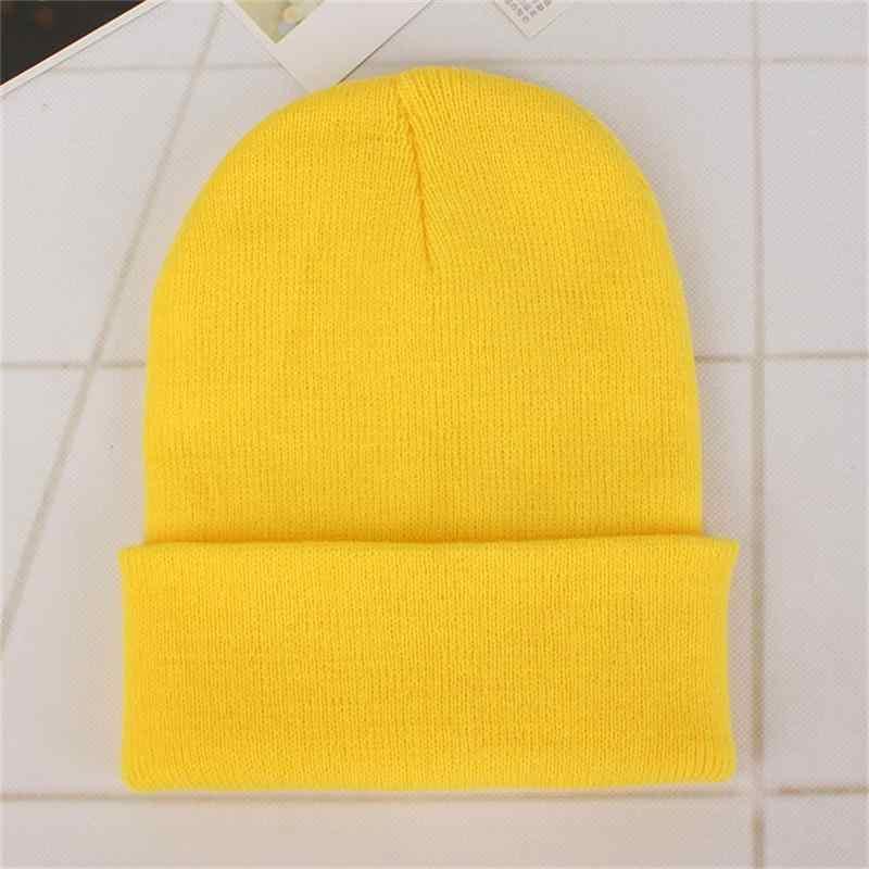 DIY Persönlichkeit Design Individuelles LOGO Herbst Winter Einfarbig Stricken Hüte Skullies Mützen Für Männer Frauen Team Marke Anpassen Caps