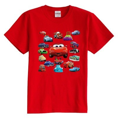Children's T shirt summer short sleeve 100% cotton boy girl kid t shirt New Cars Story good quality