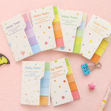 4pcs/lot Cute Mini Rainbow double-sided N times paste Memo Pad Sticky Note Kawaii Paper Scrapbooking Sticker Pads Creative