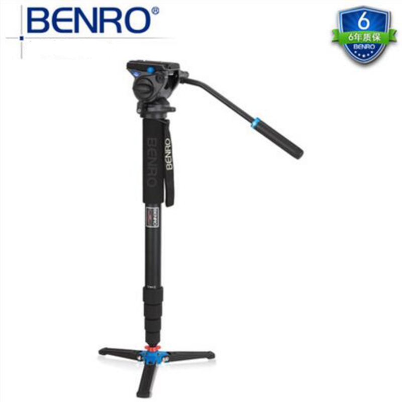 Benro Hot A49TDS4 Professional Tripod Kit Aluminum Monopod With Hydraulic Pressure Head Sport Scoping Bird Watching Tripod Set dhl new gopro benro a373ts6 s6 hydraulic ball head dual bird watching tripod camera photography tripod wholesale