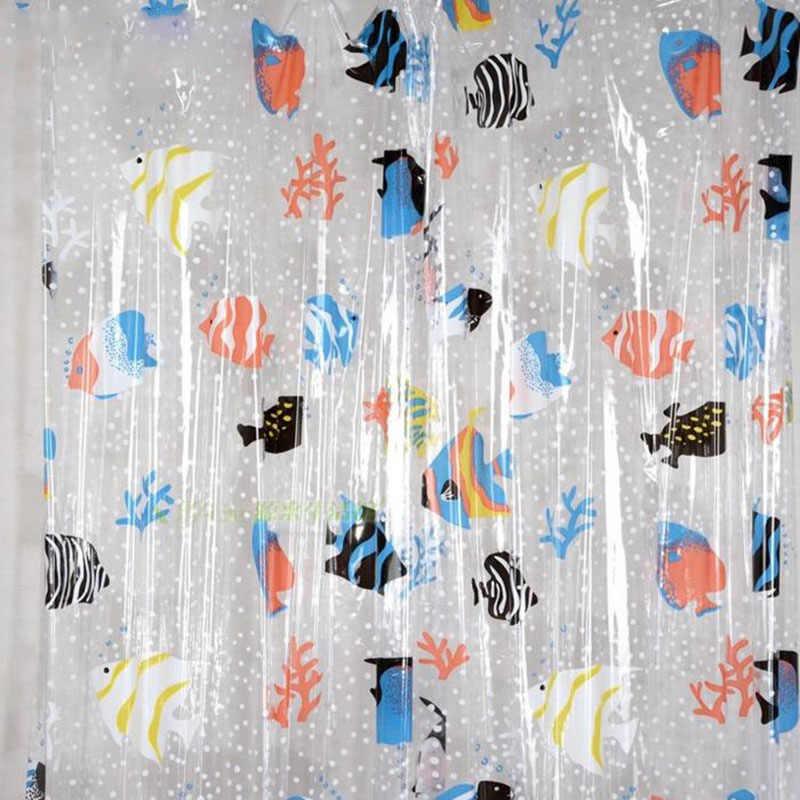 2019 NHỰA PVC Trong Suốt Cá Nhiệt Đới treo Nhà tắm Chống Mốc dày vải chống thấm nước cửa phòng tắm màn 180*200cm