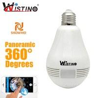 Wistino 360 Degree Fisheye Panoramic Network Wireless Camera LED Bulb Home Security System