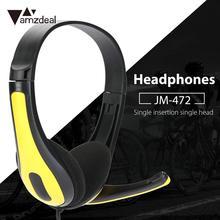 цена на 160cm 3.5mm Wired Stereo Over Ear Headset Headphone with Mic For Smart Phone New Headphone for Music Phone Accessories Earphone