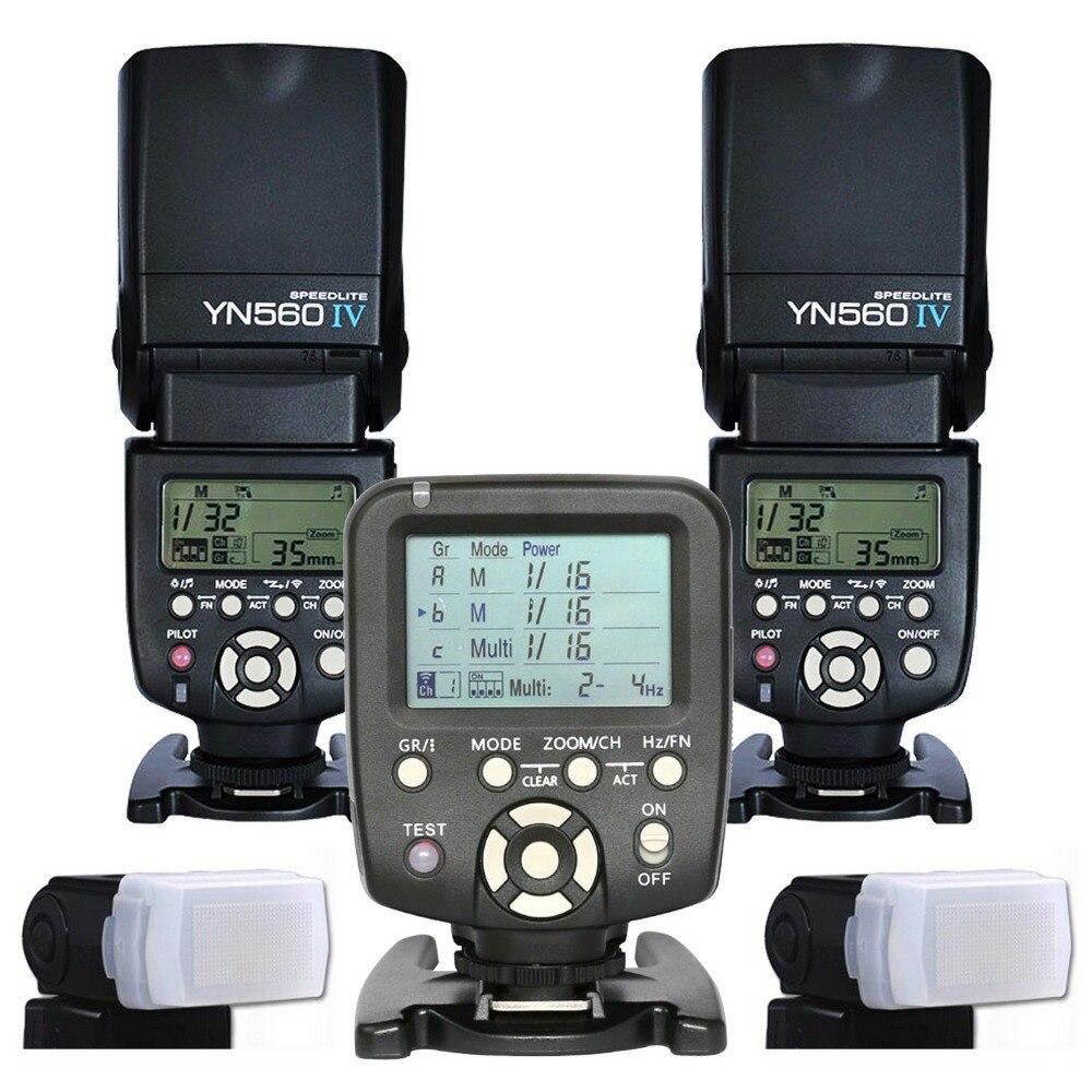 2017 2 pièces Yongnuo 560IV YN560IV contrôleur de Flash sans fil Speedlite Speedlight + YN560 TX pour appareil photo reflex numérique Canon