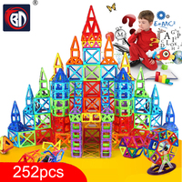 New 252pcs Mini Magnetic Designer Construction Set Model Building Toy Plastic Magnetic Blocks Educational Toys For
