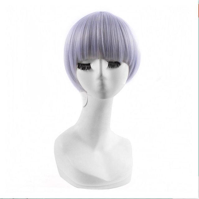 Bowl Cut Light Purple Mushroom Head Hair Cosplay Wig Blunt Bangs