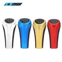 4 Color 6 Speed Manual PU Leather Gear Head Shift Knob Stick Head Car Styling For